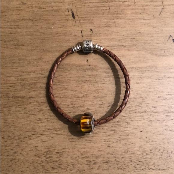 Pandora Jewelry - Brown Leather Pandora Bracelet